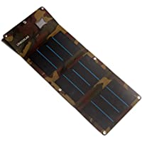 Portable Solar Panel Charger 13W Foldable Solar Powered Charger Smart USB Port for Backpack Outdoors-for Rechargeable Smartphones, iPhone, All USB Device (Camouflage(USB interface))
