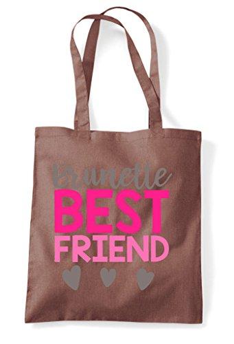 Chestnut Brunette Friend Best Matching Friends Bff Shopper Tote Statement Bag rp1Pwrzx