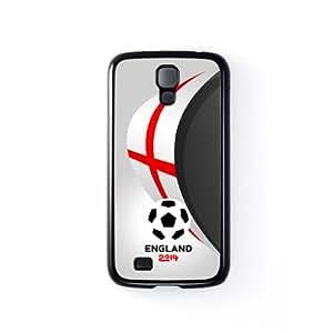 England Football World Soccer Team 2014 - English Fans Flag II Carcasa Protectora Snap-On en Plastico Negro para Samsung® Galaxy S4 de UltraFlags + Se incluye un protector de pantalla transparente GRATIS