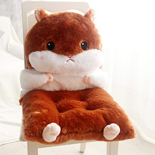 YUMUO Espesor Felpa Cojin De Silla,Suave No-Slip Cojin De La Silla Comfort Portable Encantador Hamster Asiento para La Silla De Home Office Car-g 45x90cm(18x35inch)