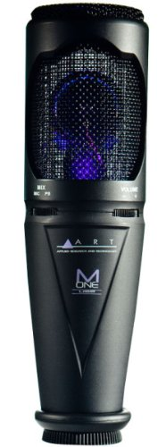 ART M-OneUSB Microphone Studio Quality Cardioid Capsule Standmount 10 USB Cable Included by ART