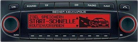 Becker 7922 Indianapolis - Radio de coche con sistema de navegación GPS integrado (mapas de