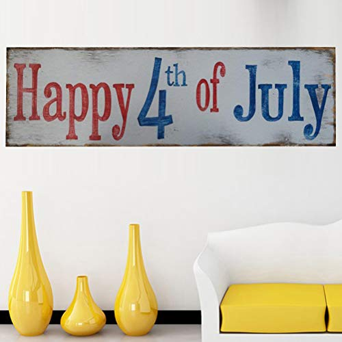 (1pc Independence Day Hanging Plaque 4th of July Wooden Hanging Sign Craft Board Ornament Home)