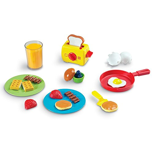 Learning Resources Pretend & Play Rise & Shine Breakfast Play Food, 21 Piece Set, Ages 3+