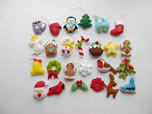 Amazon.com: Christmas Felt Ornaments Set 25 Advent