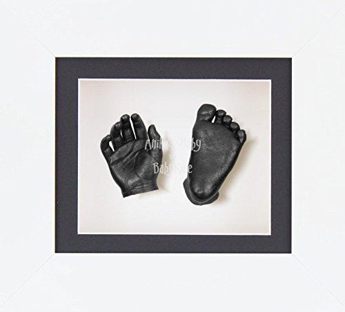BabyRice 3D Baby Boy Casting Kit White Frame Pewter Foot Casts
