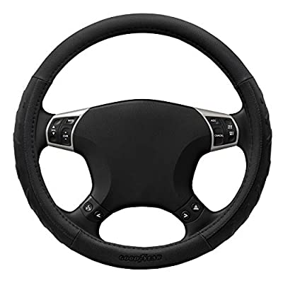 Goodyear Black Arrow Grip GY1396 Performance Steering Wheel Cover Non-Slip High Universal Fit 14.5