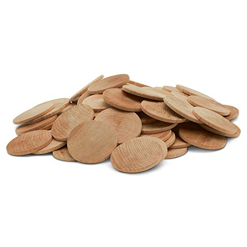 Wooden Token - Woodpeckers 200 Wooden Circles, 200 Pieces