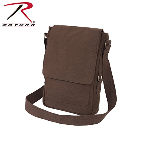 Rothco Vintage Canvas Military Tech Bag, Earth Brown