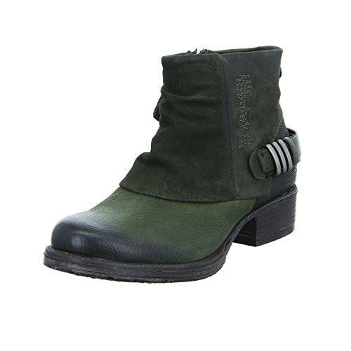 Red Boxx Stiefelette Damen Lederboots Ankle Boots Grün