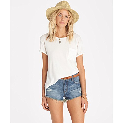 Billabong Juniors Look No Further Knit Tee, Cool Whip, Large ()