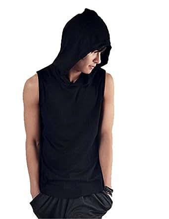 Amazon.com: summer mens sleeveless hoodie T-shirt hooded