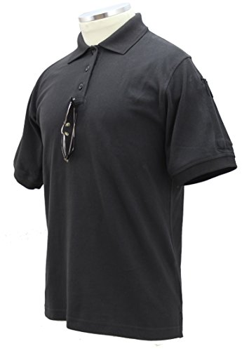 First Class 100% Cotton Elbeco Short Sleeve Polos for Men Black-L ()