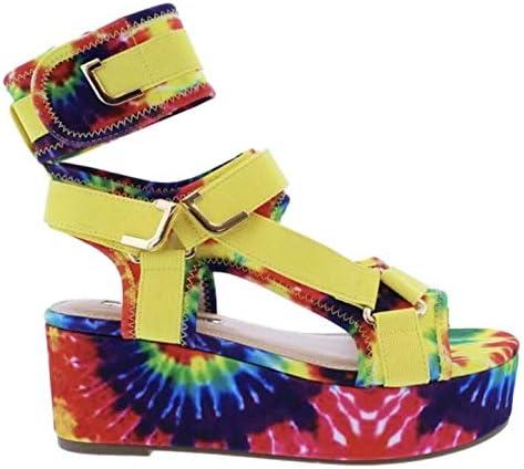 Open Toe Velcro Platform Sandals