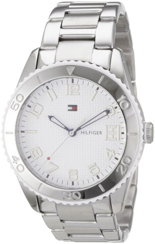 Tommy Hilfiger Women's Ritz 1781145 Silver Stainless-Steel Quartz Watch with White Dial