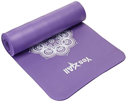 Yes4All de primera 1/5,08 cm carpeta extragruesa alfombrilla de estampado para Yoga - hipnóticos morado - TWDBZ²