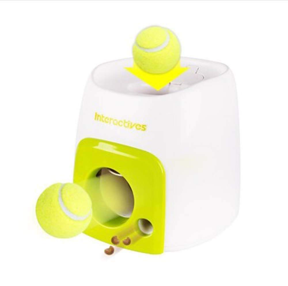 Waitousanqi CSJ Intelligence – Canine Tennis Food Dog Interactive Training Smart Feeder Reward Machine Tennis Toys Labor-Saving