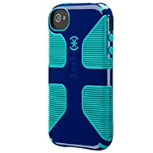 Speck Products CandyShell Grip Case for iPhone 4/4S, Cadet Blue/Caribbean Blue