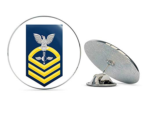 US Navy Chief Gold E-7 Aerographers Mate AG Military Veteran USA Pride Served Gift Metal 0.75