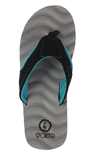 black Tongs Confort Sporto Beach teal Gray Femme wAfnfqFxX