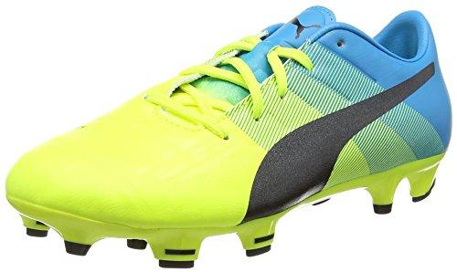 Puma Evopower 1.3 Firm Ground Junior, Botas de Fútbol Unisex Niños Amarillo - Yellow (Yellow/Black/Blue)