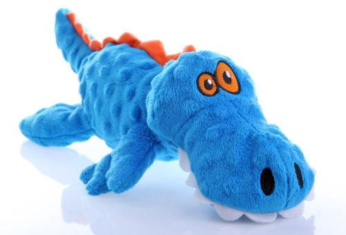 goDog Gators With Chew Guard Technology Tough Plush Dog Toy,