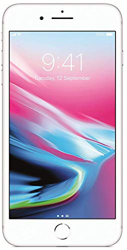 Apple iPhone 8 Plus UK Sim-Free Smartphone, 64 GB – Silver (Renewed)