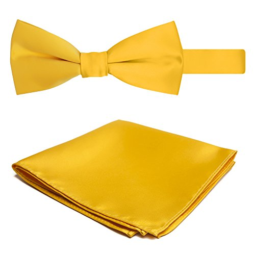Gold Alexander and Set Men's Jacob Bright Solid Hanky Bowtie Color qzZwqaxdX