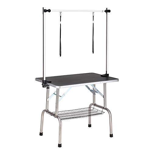 Haige Pet Dog Grooming Table Portable Adjustable with Arm Leash Noose New