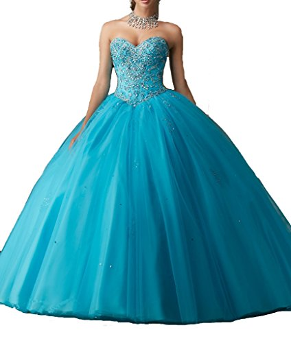 Cinderela Dress (Women's Dazzling Beading Ball Gown Floor Length Quinceanera Party Dresses With Jacket 0 US Blue)