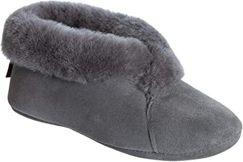 Women's Sophia Soft-Sole Sheepskin Slippers Grey