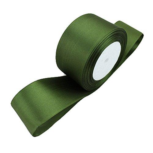 [XUKE 25 Yard,2 Inches,22 Colors Solid Grosgrain Ribbon JUA282J Olive green] (Olive Green Grosgrain Ribbon)