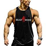 Befox Men's Cotton Gym Beast Mode Bodybuilding Stringers Tank Tops