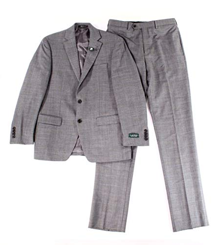 LAUREN BY RALPH LAUREN Mens 48R Two Button Wool Suit Gray 48