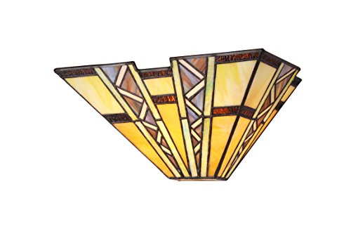 - Chloe Lighting CH33226MI12-WS1 Tiffany-Style Mission 1 Light Wall Sconce 12-Inch Wide, Multi-Colored
