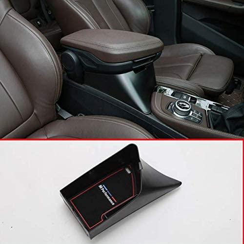 Black YIWANG Car Center Armrest Storage Box Container Tray For X1 F48 2016-2019 For X2 F47 2018 2019 Left Hand Drive