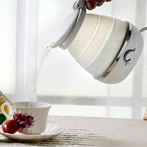 JY Waterkoker voor op reis, opvouwbare waterkoker, koken, thee, koffiezetapparaat, droogbescherming, draagbaar, silicone, inklapbaar, 0,5 l, 110 V, milieuvriendelijk