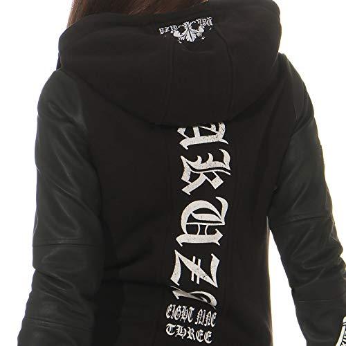 Donna Neck Yakuza High Zip Nero Con Lily Maglieria hoodies OnBqadC