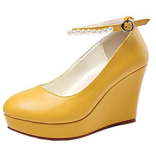 Getmorebeauty Yellow Getmorebeautyupdate Con Donna Alla Cinturino Caviglia 1x1rTRYqw