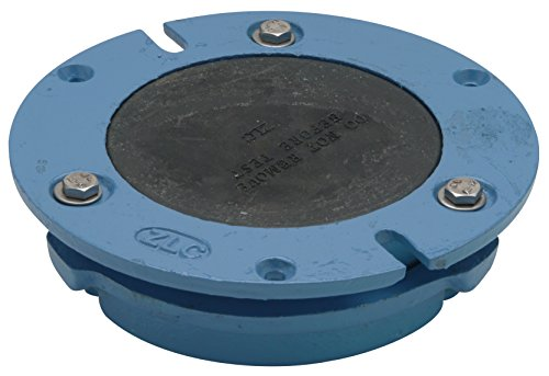 Integral Flange - Zurn CF2982-CI4 Cast Iron Torque Set Closet Flange with Integral Test Cap, 4