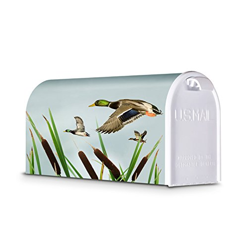 Decorative Mailbox Mallards in Flight from LetterPerfect Mailbox Co.