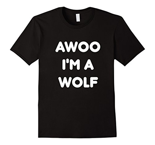 Couple Costume Wolf (Mens Wolf Halloween Costume Funny T-Shirt XL Black)