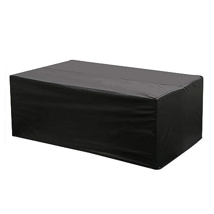 Etmury Schutzhulle Fur Gartenmobel Rechteckige Wasserdicht Atmungsaktiv Aus Oxford Gewebe Fur Tische Und Sedute Schwarz 200x160x70 Cm