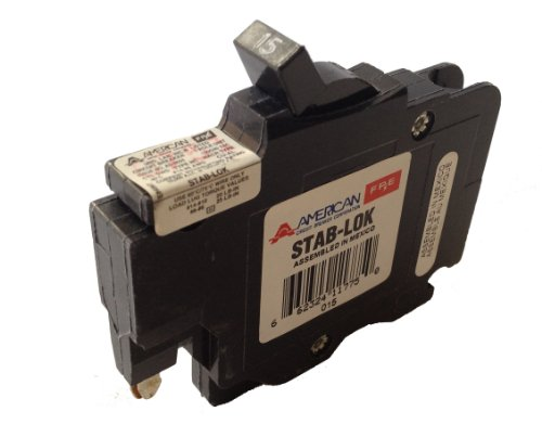 American/Federal Pacific Circuit Breaker, 1-Pole 15-Amp Thin (Thin Federal Pacific Breaker)