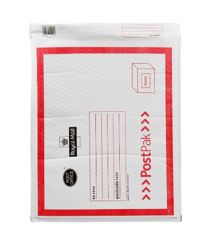 Jiffy 50 X Royal Mail Post Office White & Red Size 7 - Packet