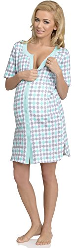 Be Mammy Lactancia Camisón para Mujer Sarah Modelo-3