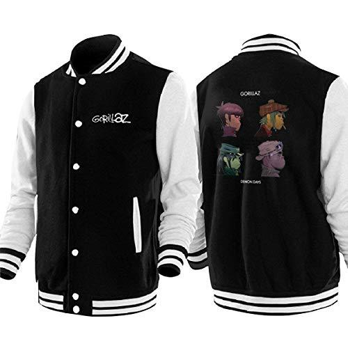 Gorillaz Demon Days Baseball Uniform Jacket Unisex Hoodie Fashion Coat Sweater Sweatshirt