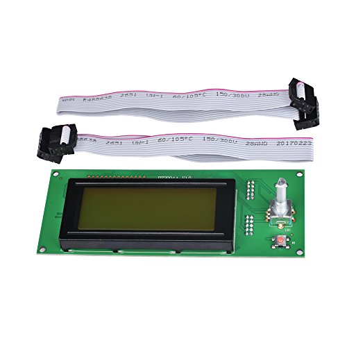 KINGPRINT Upgraded LCD 2004 Graphic Smart Display Controller Module with Adapter for 3D Printer