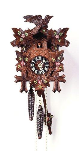 August Schwer Cuckoo Clock 5-Leaves, Bird