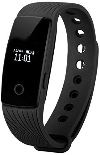 YAMAY® Bluetooth Smart Armbanduhr Fitness armband Tracker Aktivitätstracker mit Schrittzähler/Kalorienzähler/Schlaf-Tracker/Fernbedienung/Finde Telefon Modus kompatibel mit Android iOS Smartphones (Nein Herzfrequenz-Monitor)